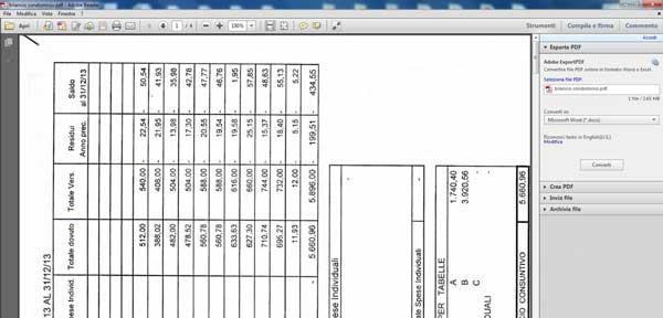 Schermata di apertura di un file PDF con Adobe Reader