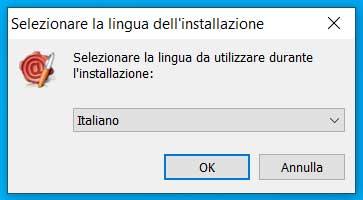 Windows 10 ArubaSign scelta della lingua