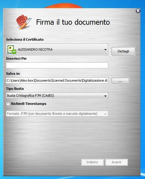 firma il tuo documento con arubasign