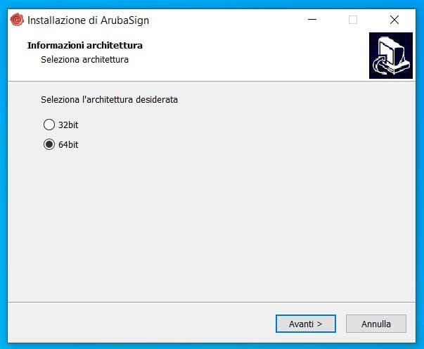 installazione ArubaSign win 10 - architettura del sistema