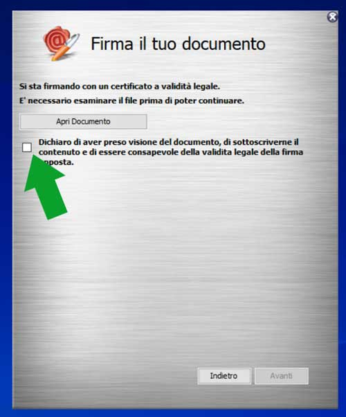 verifica documento arubasign