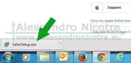Apple Safari download completato con chrome