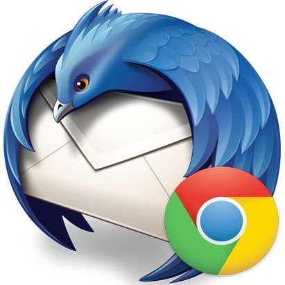 Logo Mozilla Thunderbird, Chrome