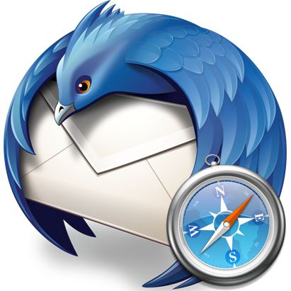 Logo Mozilla Thunderbird, Apple Safari