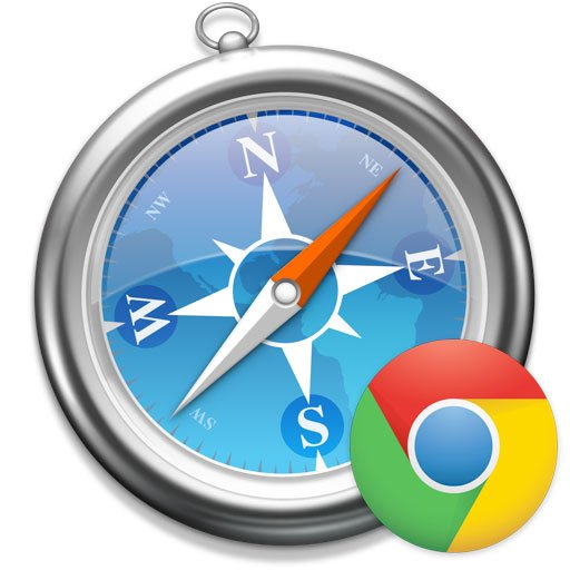 Logo di Apple Safari con Chrome