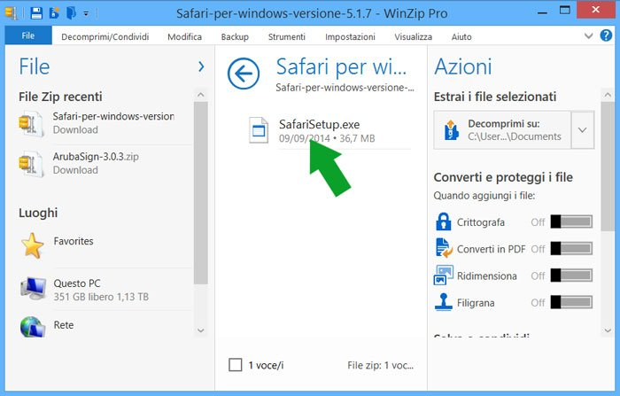 contenuto dell'archivio safari per windows 5.1.7 file exe