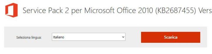 Scarica il service pack 3 di Office 2010