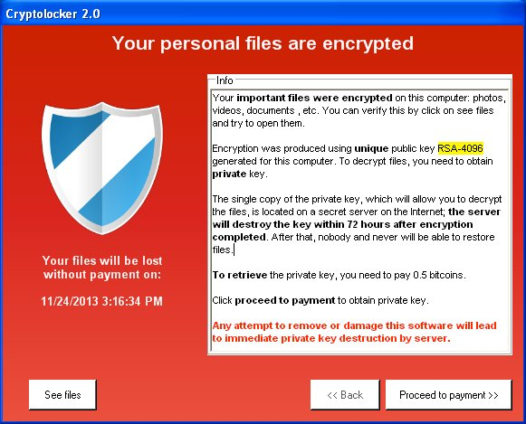 cryptolocker avviso