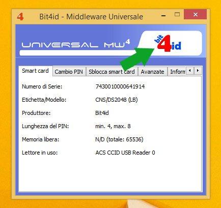 problema firma con bit4id middleware nuovo