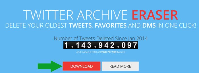 pagina download twitter archive eraser