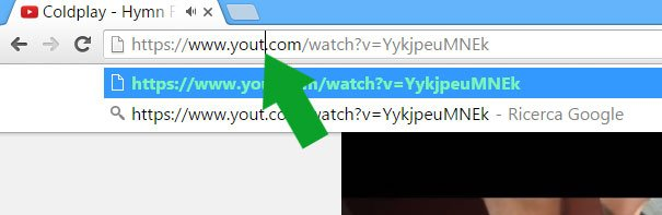 yout - modifica url youtube