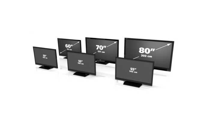 dimensioni TV in pollici e in centimetri
