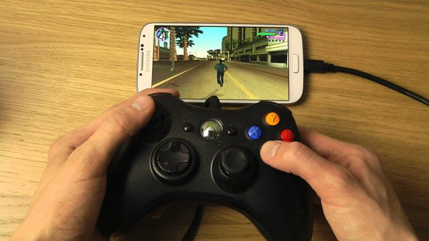 usb otg gamepad collegato a smartphone android