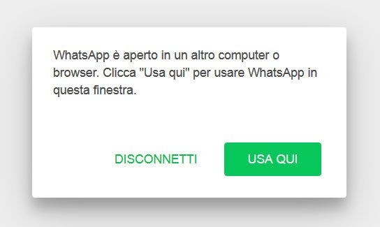 usa whatsapp qui