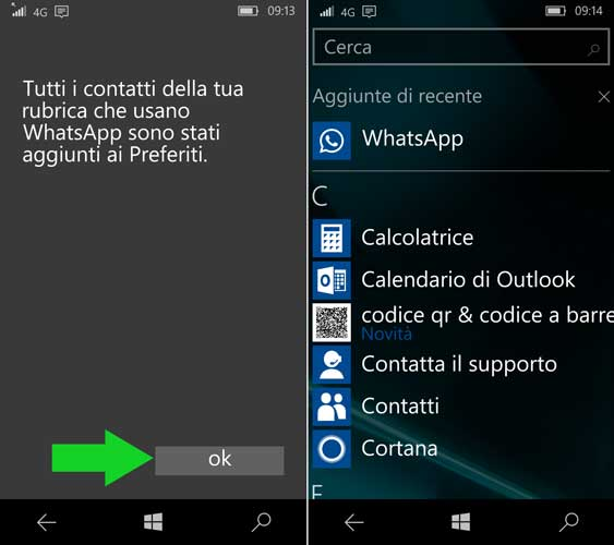 configurare WhatsApp Windows
