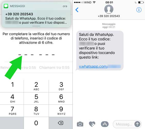 configurare whatsapp su iPhone