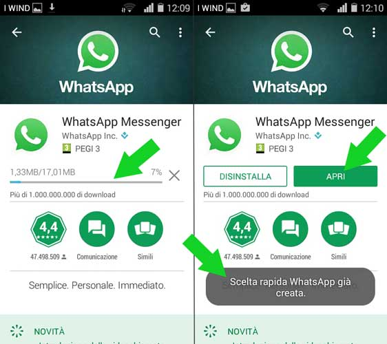download whatsapp per android