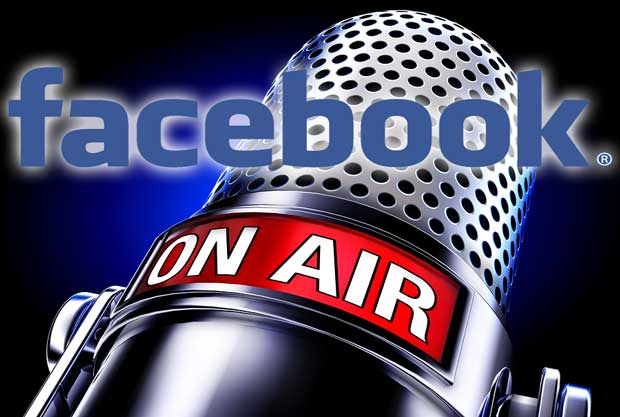 facebook live audio on air