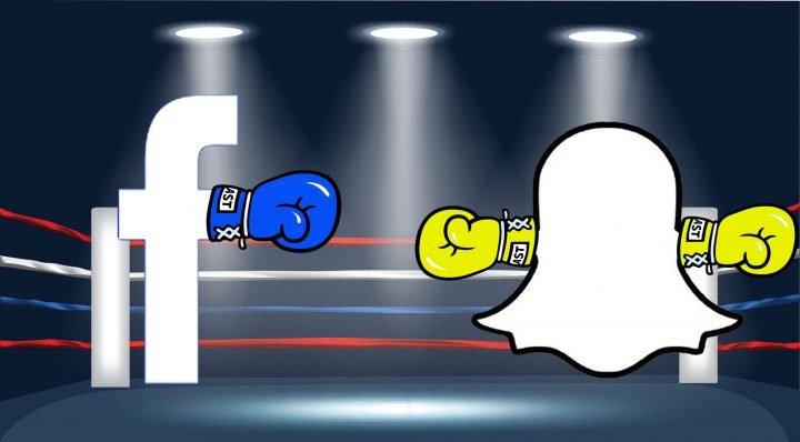 facebook contro snapchat