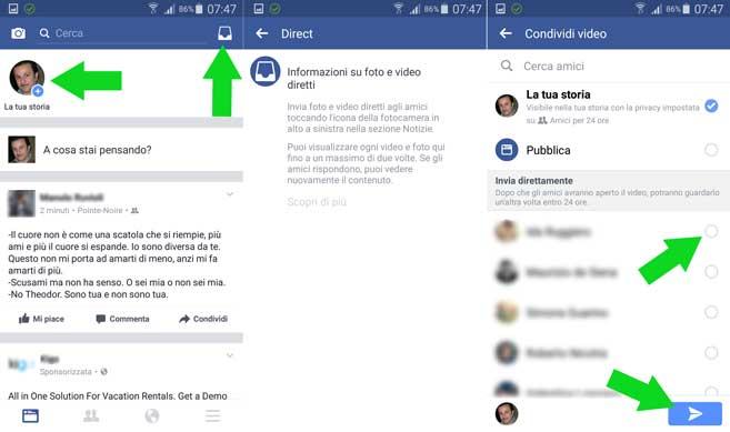 Facebook La tua Storia - Facebook Direct