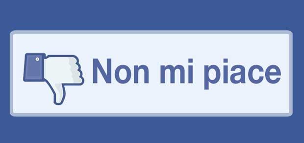 non mi piace - facebook