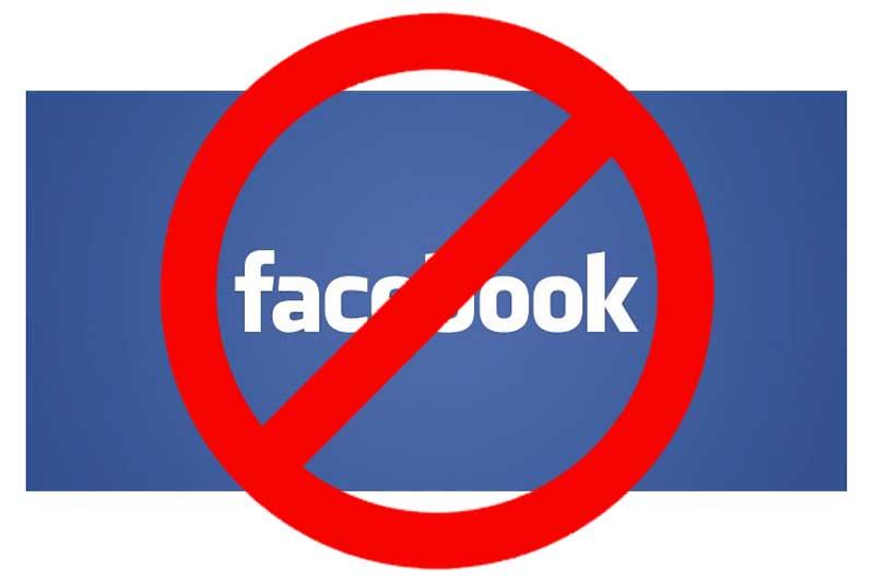 bloccato su facebook copertina