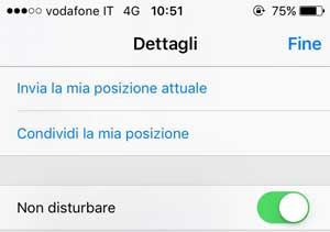 blocco SMS iPhone - non disturbare