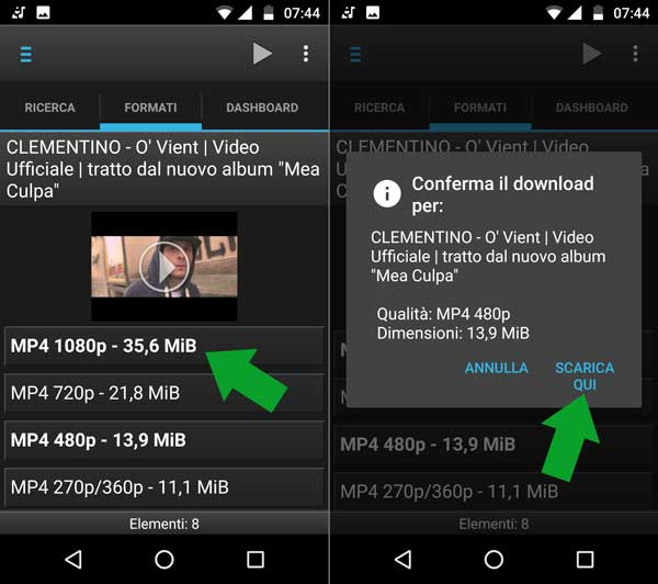 Conferma download YouTube Downloader