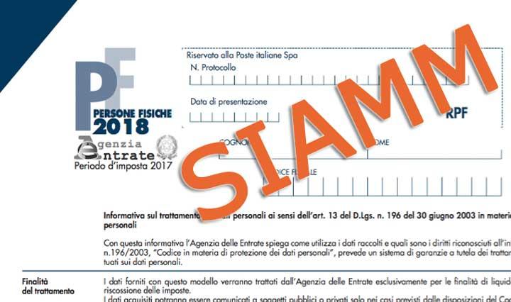 certificazione dei redditi SIAMM
