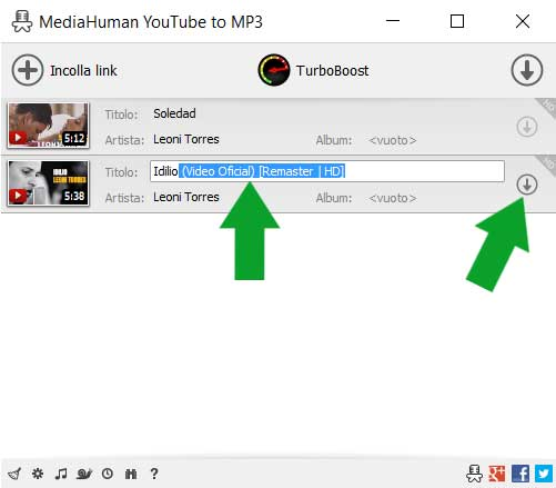 scaricare musica da YoutTube con MediaHuman YouTube to MP3