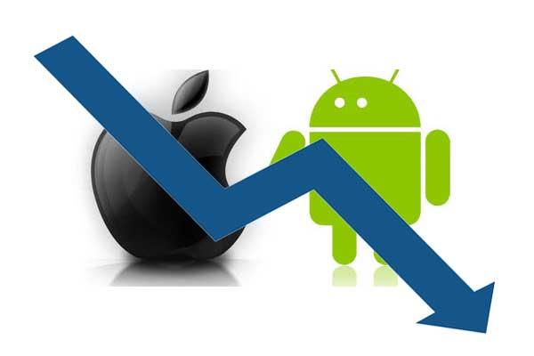 Calo delle vendite di Smartphone_