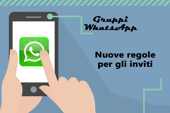 inviti gruppi whatsapp nuove regole