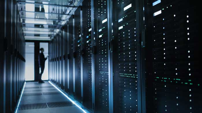 Data center con server veloci per la SEO