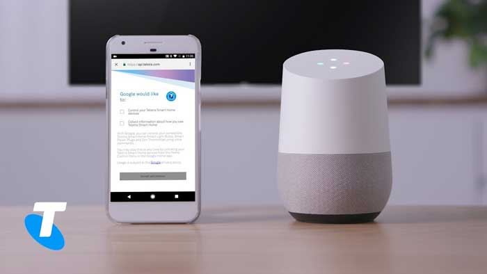 fare telefonate con google home con il gestore Telstra