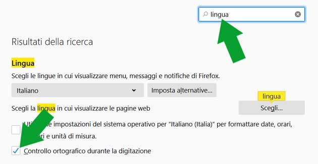 Attivare il correttore automatico in Mozilla Firefox