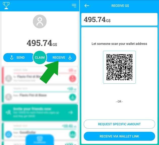 generare QR code per ricevere somme di denaro